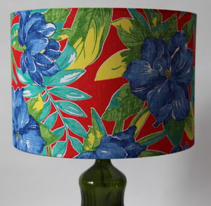 Tropical Floral Lampshade