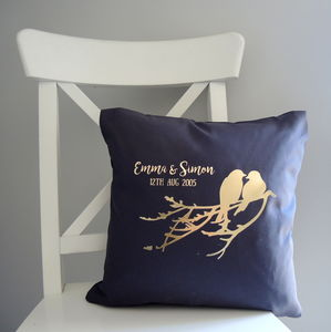 Personalised Love Birds Cushion - cushions