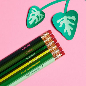 House Plants Botanical Pencil Set