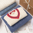 Baby Cricket Jumper And Cable Blanket Gift Set