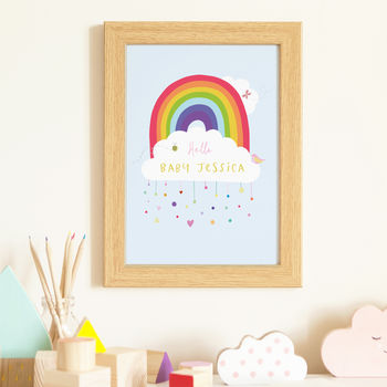 Personalised Rainbow Baby Print For Nursery