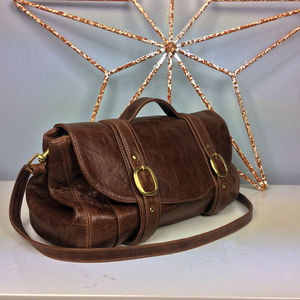 Brown Leather 'Preston' Bag - bags & purses