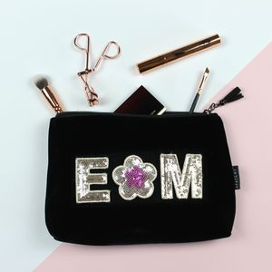 Personalised Velvet Beauty Bag - make-up & wash bags