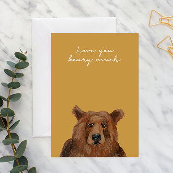 Big Bear 'Love You Beary Much' Card A5