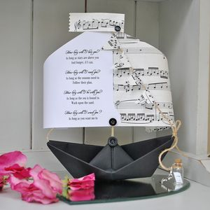 'How Long Will I Love You' Personalised Paper Boat - our songs