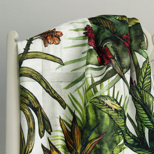 Glasshouse Tropical Print Furnishing Fabric - fabric