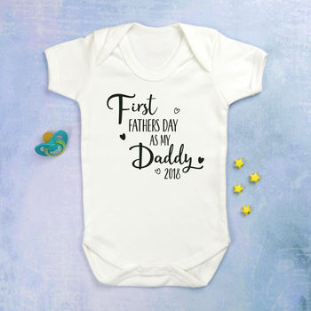 First Father's Day As My Daddy Babygrow