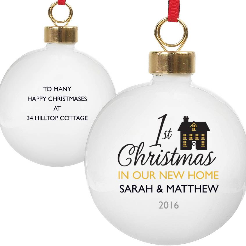 Personalised New Home Christmas Bauble By Letteroom