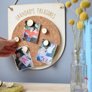 Personalised Grandad Or Grandpa Family Notice Board