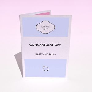 Personalised Wedding Stripe Wedding Day Card