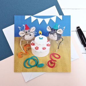 Happy Birthday Mouse Greeting Card - birthday cards