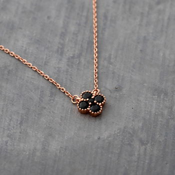 Rose Gold Four Leaf Clover Pendant Necklace