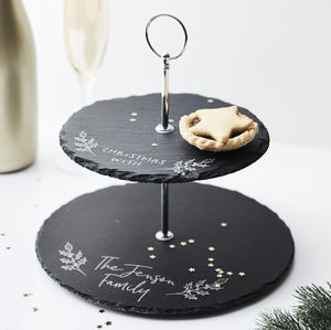Personalised Christmas Mince Pie Stand - cake stands