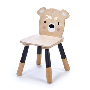 Personalised Childs Wooden Bear Chair
