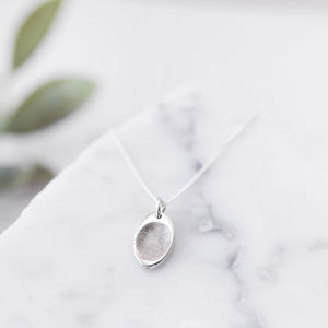 Personalised Tiny Fingerprint Oval Charm Pendant - necklaces & pendants