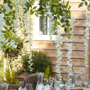 White Wisteria Wedding And Party Decorations