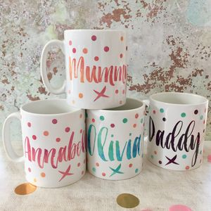 Contemporary Name Mug - mugs