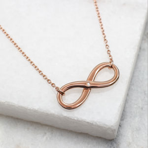 Personalised Gold Or Silver Diamond Infinity Necklace - necklaces & pendants