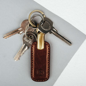 Luxurious Leather Key Ring. 'The Ponte' - gifts for him