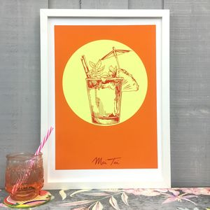 Mai Tai Cocktail Giclée Fine Art Print - food & drink prints