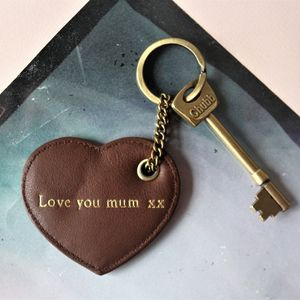 Luxury Leather Heart Key Chain