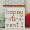 Sparkly Retirement Card