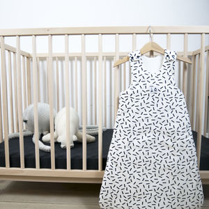 Monochrome Print Sleeping Bag Six 12 Months - cot bedding