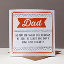 Funny Dad Card