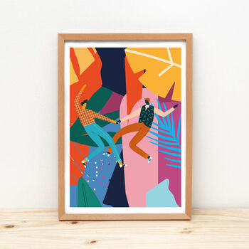 'Dancing With My Love' Art Print, Unframed