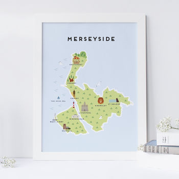 Map Of Merseyside Print