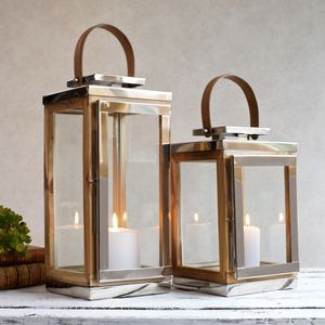 Reclaimed Teak Wooden Lantern Indoor And Outdoor