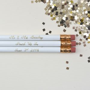 Pencil Us In Save The Date Wedding Pencil - wedding favours