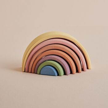 'Pastel' Small Wooden Stacking Rainbow