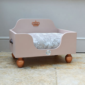 Nude Pink And Copper Dog Bed And Cat Bed