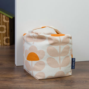 Fabric Door Stop In Orla Kiely Sweet Pea - door stops & draught excluders