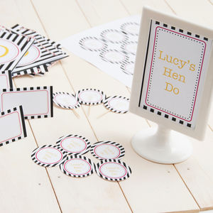 Hen Do Personalised Decoration Pack - hen party ideas