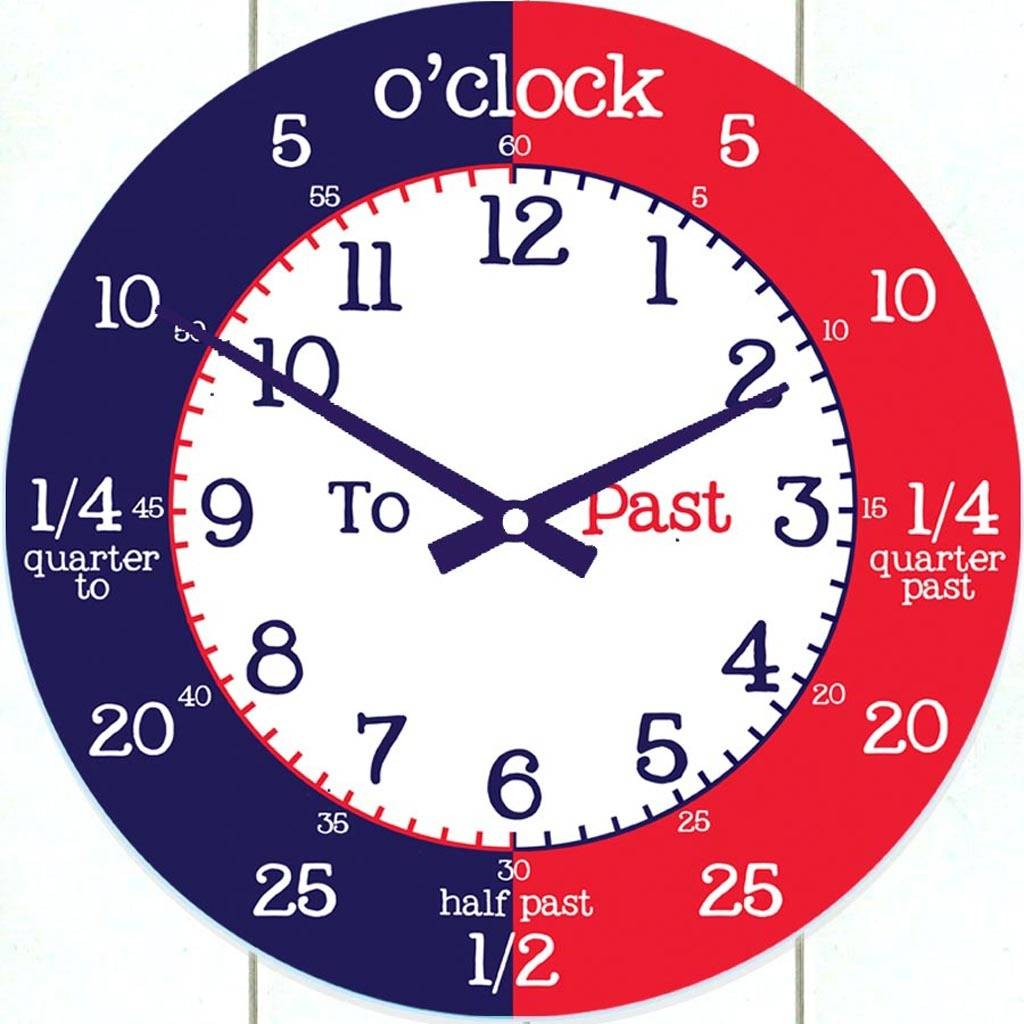 time teaching wall clock by cute-clocks | notonthehighstreet.com