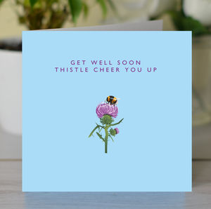 'Thistle Cheer You Up' Get Well Card - get well soon cards