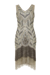 Hollywood Vintage Inspired Fringe Flapper Dress