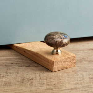 Modern Door Stop With Granite - door stops & draught excluders