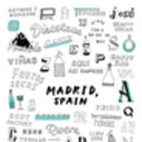 Madrid Typography A4 Print