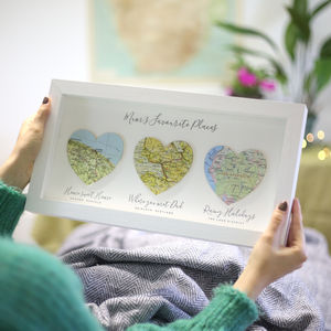 Favourite Places Personalised Map Heart Gift For Her - our top new picks