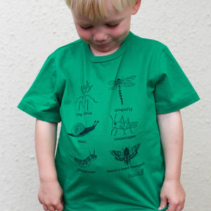 Childrens Organic Creepy Crawly T Shirt - boy's t-shirts