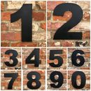 Big Metal House Home Numbers Distressed Black