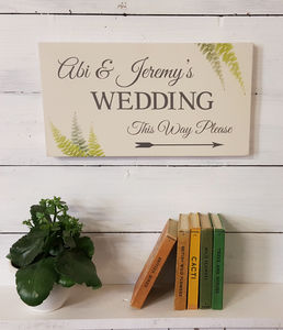 Botanical Wedding Sign
