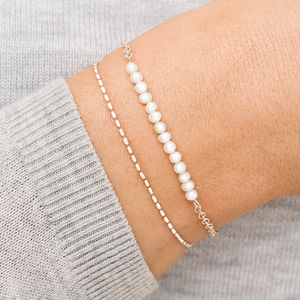 Linette Pearl And Slider Bracelet Set - jewellery sale