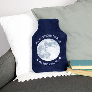 Personalised Moon Hot Water Bottle Cover