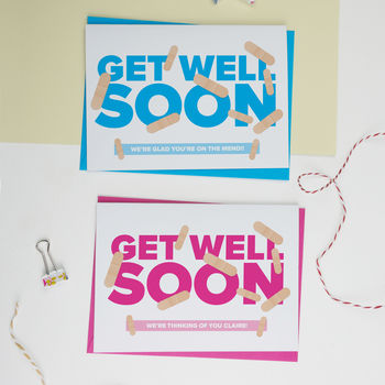 Personalised Get Well Soon Card