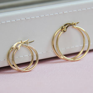 Everyday 14ct Gold Hoop Earrings - 16th birthday gifts