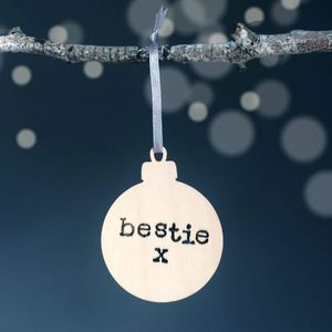 Personalised Best Friend Christmas Bauble